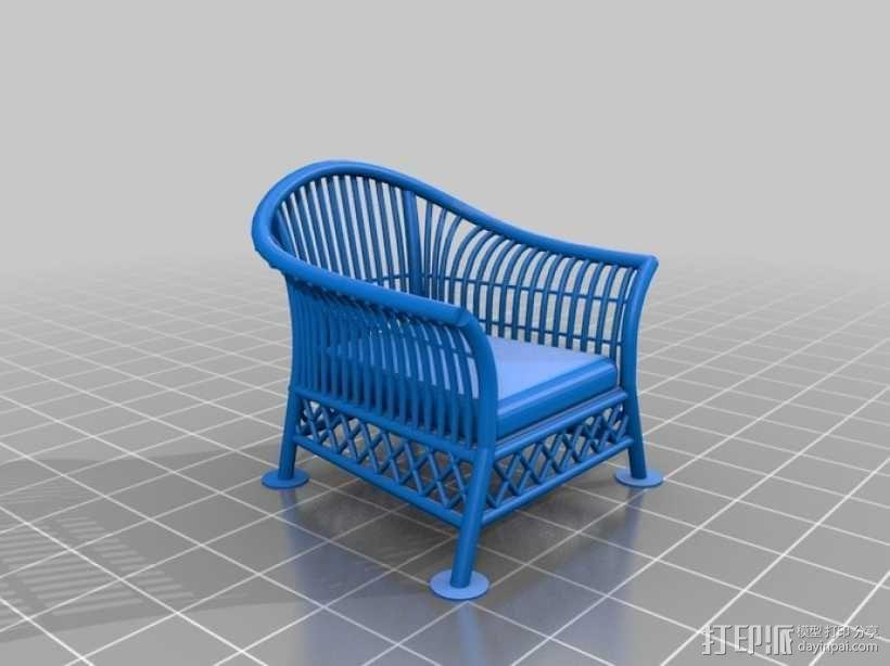 1:24柳条家具套件 3D模型  图8