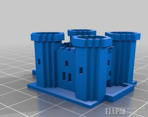 游戏《Minecraft》城堡 3D模型  图1