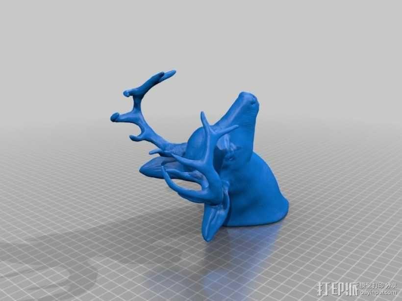 鹿头 3D模型  图2