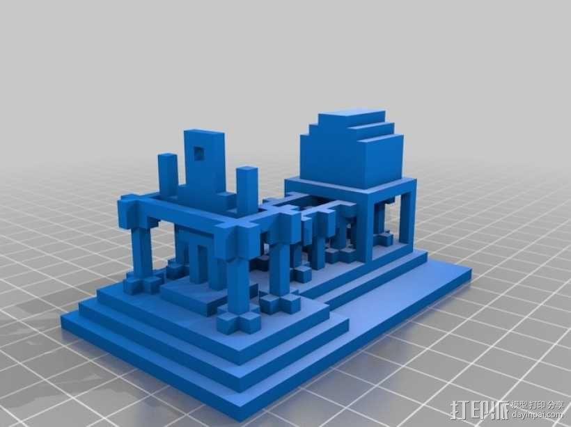游戏《Minecraft》独眼巨人神殿 3D模型  图1