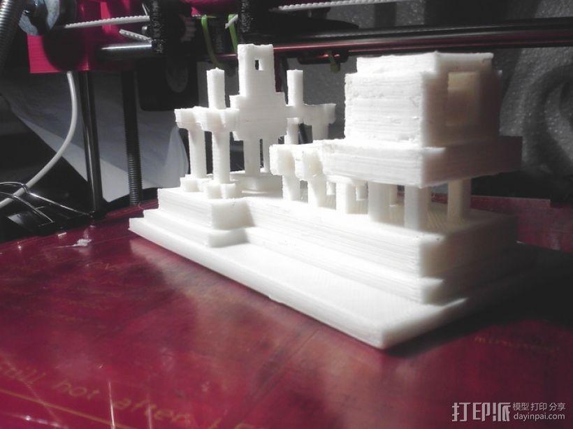 游戏《Minecraft》独眼巨人神殿 3D模型  图3