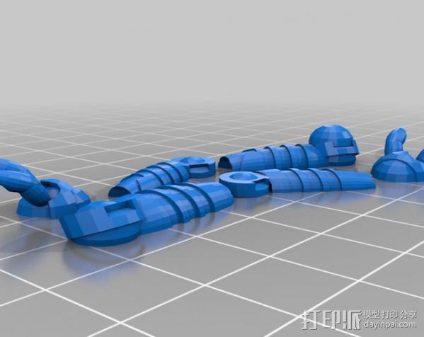 机器奴工 玩偶 3D模型  图6