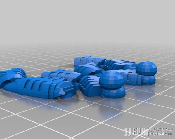 机器奴工 玩偶 3D模型  图7