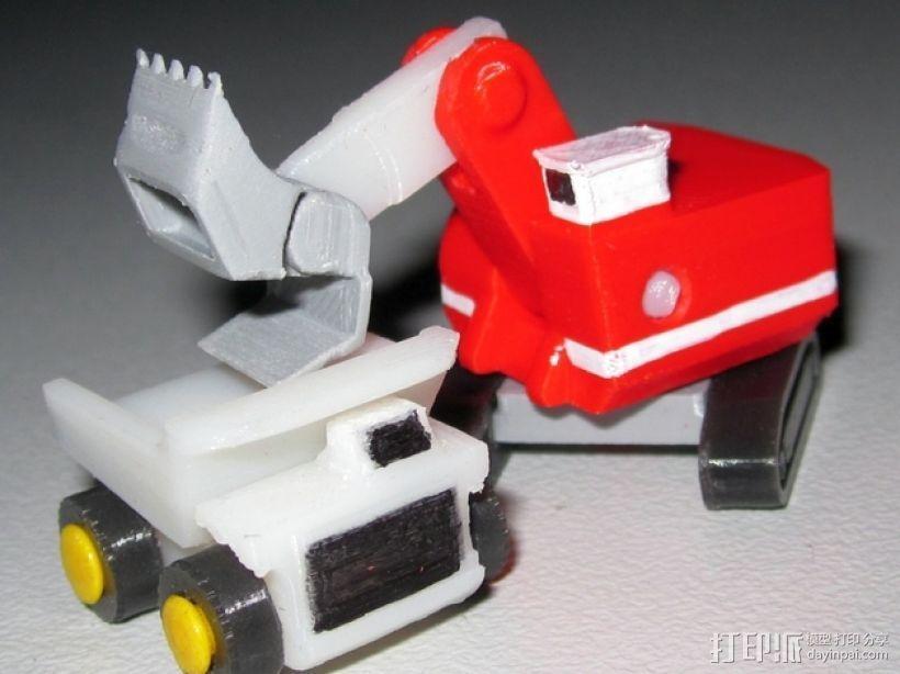 迷你挖掘机 3D模型  图1
