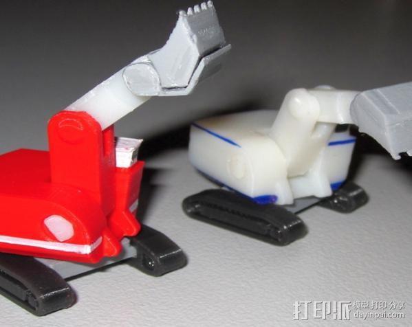 迷你挖掘机 3D模型  图6