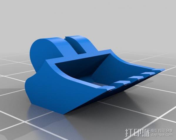 迷你挖掘机 3D模型  图15