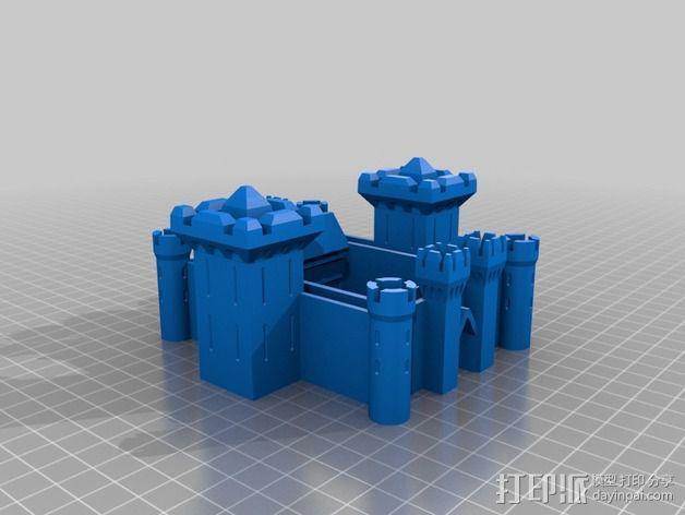 博丁安城堡  3D模型  图1