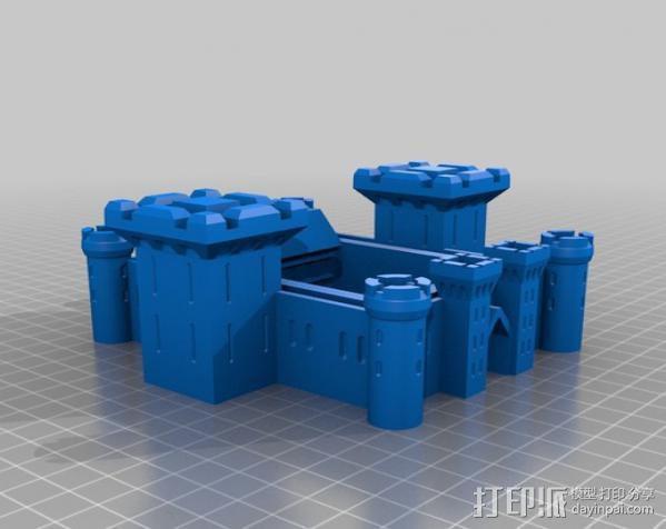 博丁安城堡  3D模型  图3