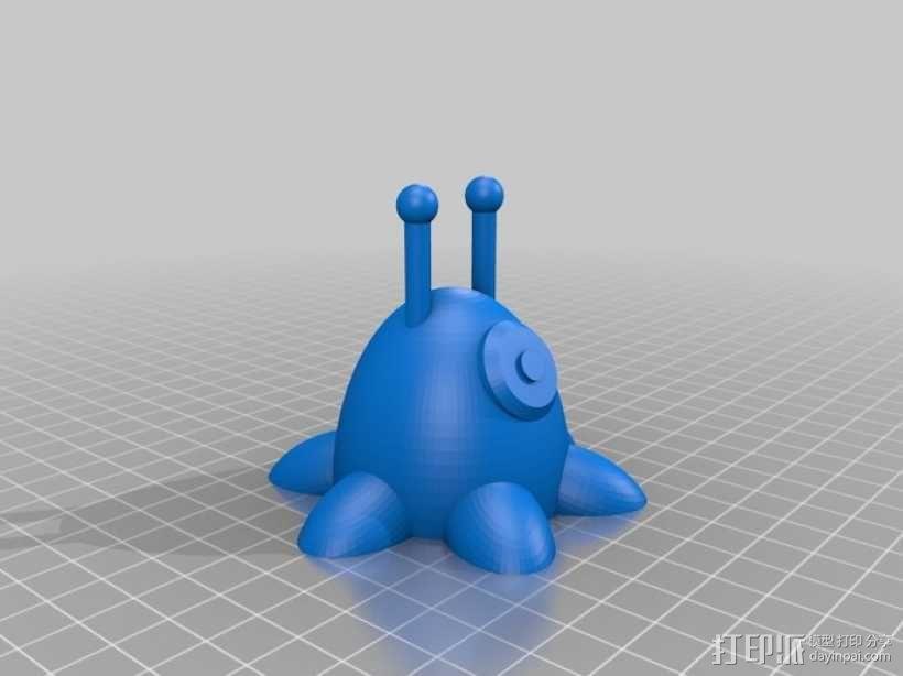 鼻涕虫 3D模型  图1