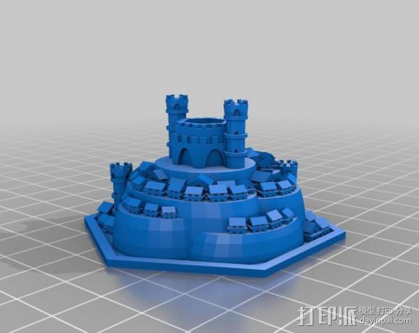 战争游戏 城堡 3D模型  图1