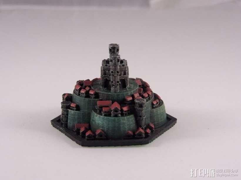战争游戏 城堡 3D模型  图3