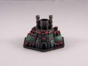 战争游戏 城堡 3D模型