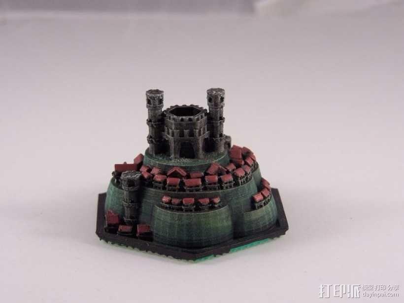 战争游戏 城堡 3D模型  图4