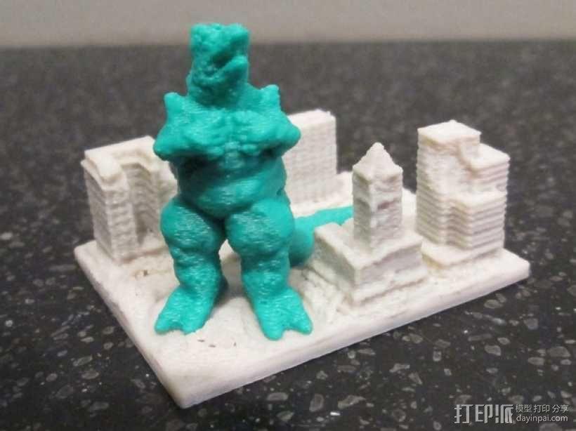 巨蜥袭击城市 模型 3D模型  图3