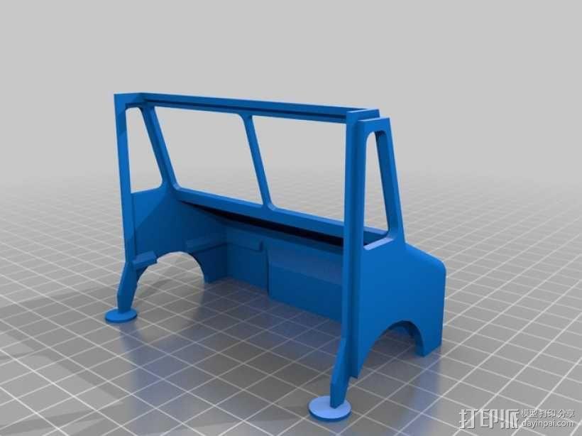 UPS卡车 3D模型  图2