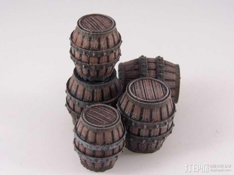 木桶 3D模型  图1