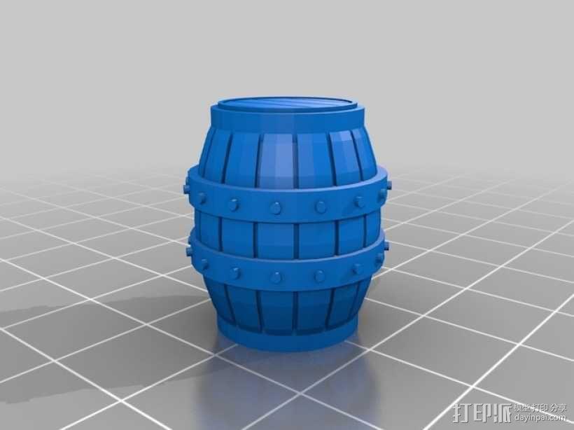 木桶 3D模型  图7