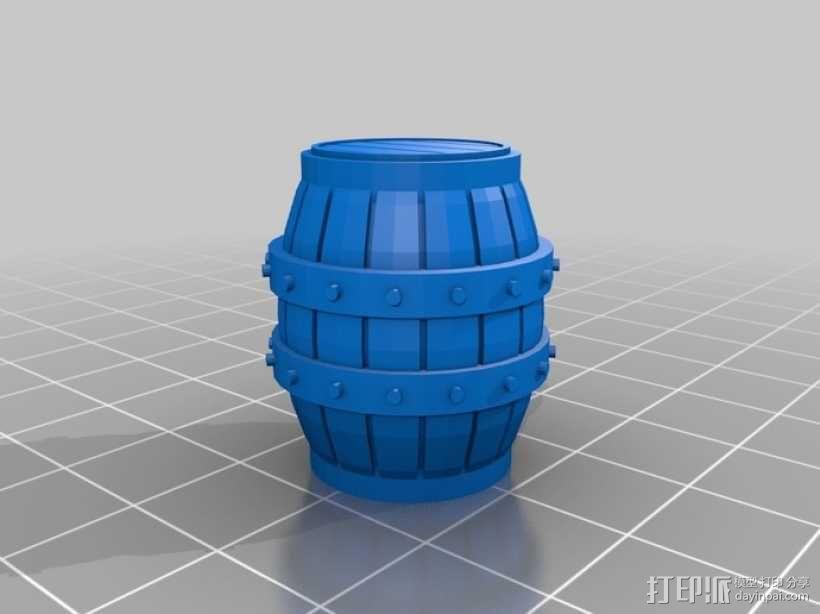 木桶 3D模型  图6