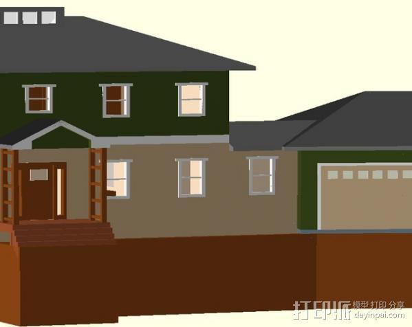 迷你房屋 3D模型  图1