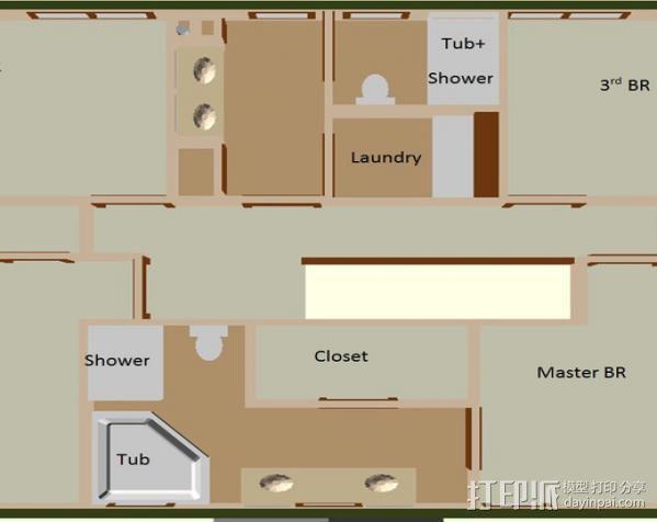 迷你房屋 3D模型  图7