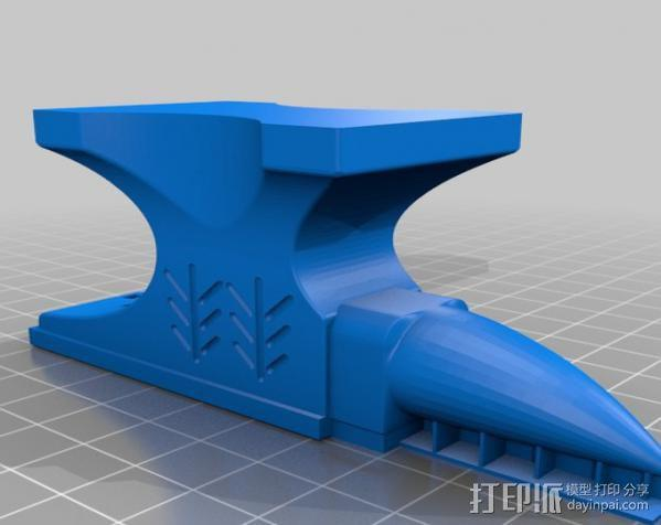 铁匠 铁砧 3D模型  图3