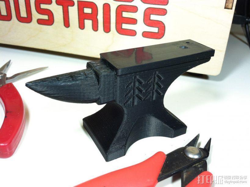 铁匠 铁砧 3D模型  图1