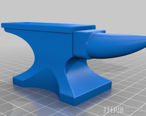 铁匠 铁砧 3D模型  图4