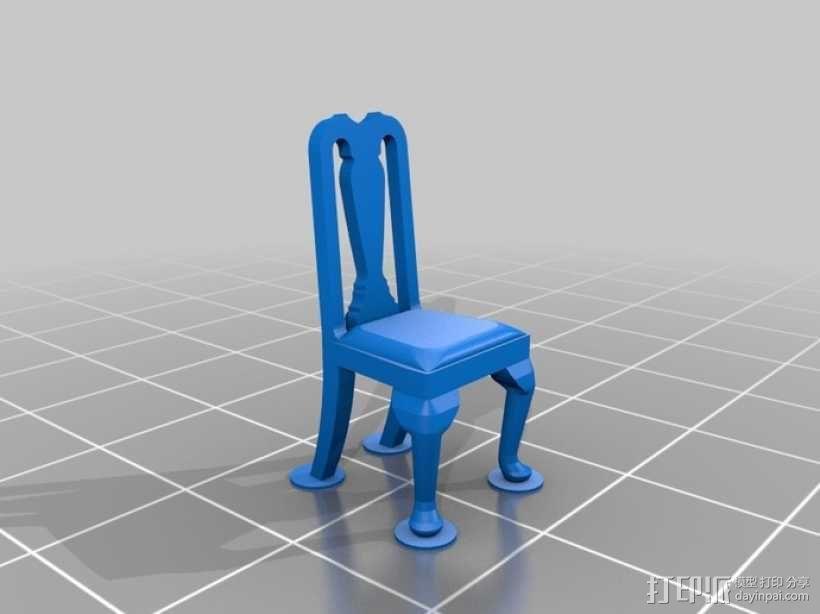 安娜皇后椅  3D模型  图1