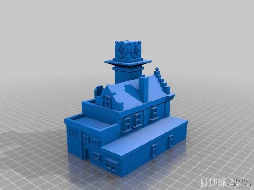 多伦多海滩地标性建筑:消防局227 3D模型  图1