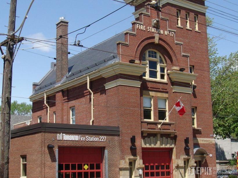 多伦多海滩地标性建筑:消防局227 3D模型  图3