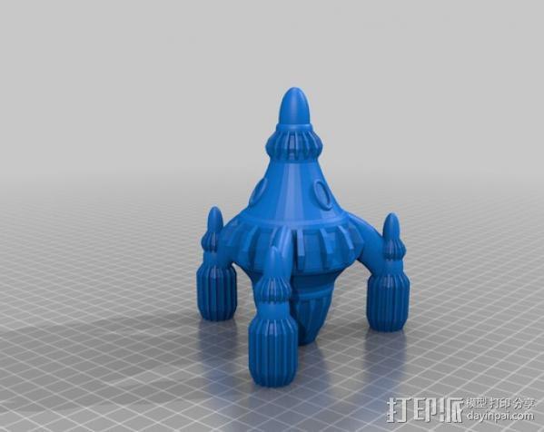 反推进火箭 3D模型  图1