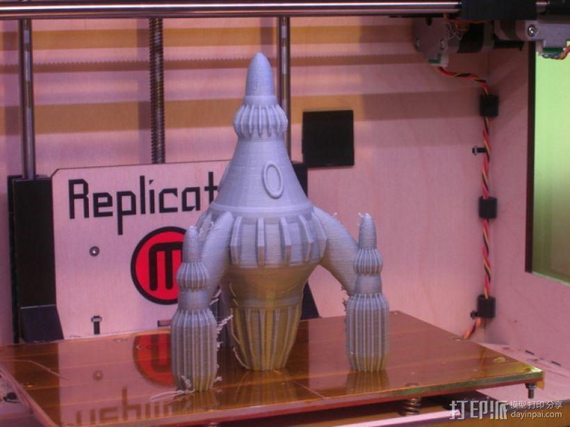 反推进火箭 3D模型  图3