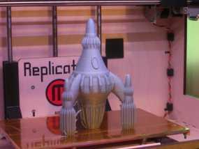 反推进火箭 3D模型