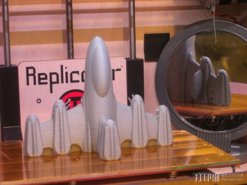反推进火箭009 3D模型  图3