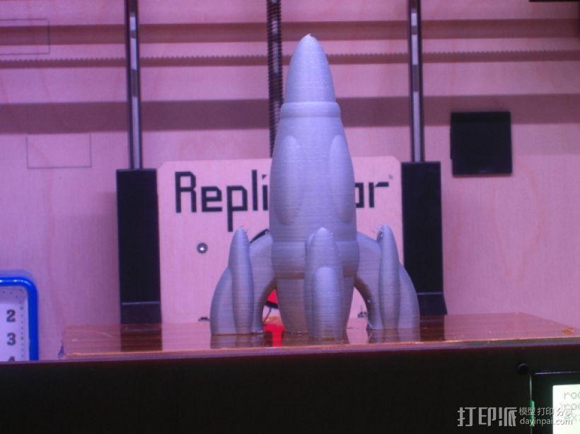 反推动火箭004 3D模型  图2