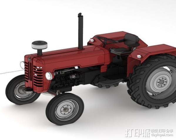 D326拖拉机 3D模型  图2