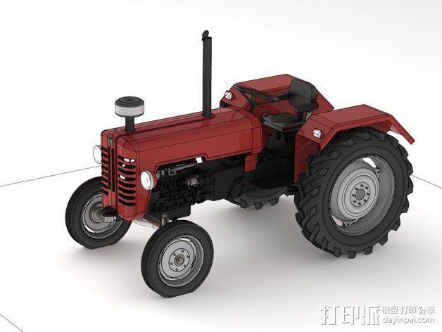 D326拖拉机 3D模型  图1