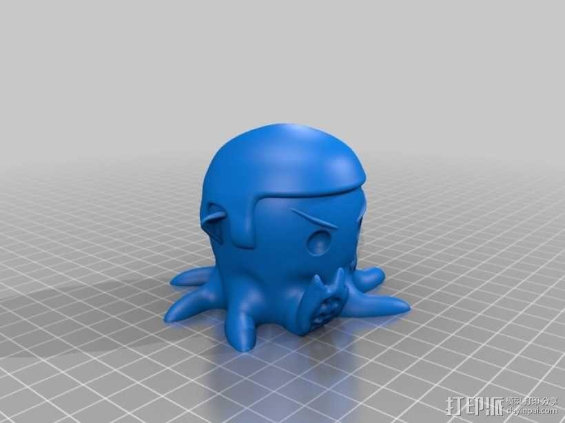 章鱼 玩偶 3D模型  图1