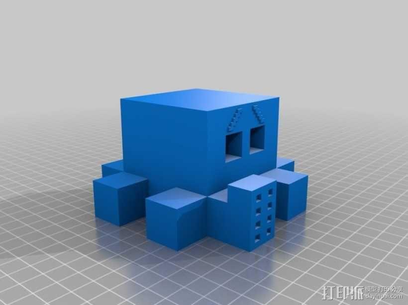 Blocktopus机器人 玩偶 3D模型  图1
