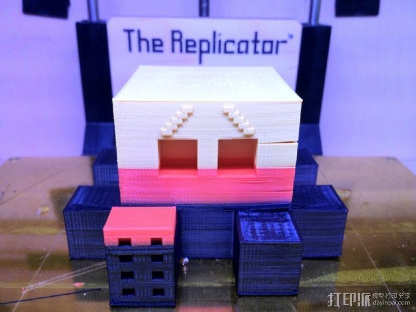 Blocktopus机器人 玩偶 3D模型  图2