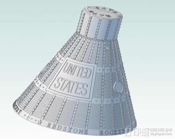 自由7号 存钱罐 3D模型  图2
