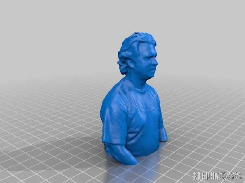 人物半身像 3D模型  图1