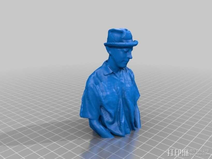 人物半身像 3D模型  图2