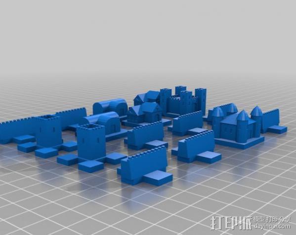 城堡 象棋棋子 3D模型  图1