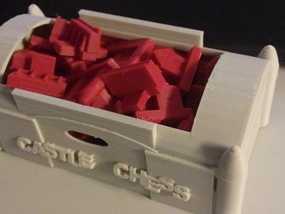 城堡 象棋棋子 3D模型