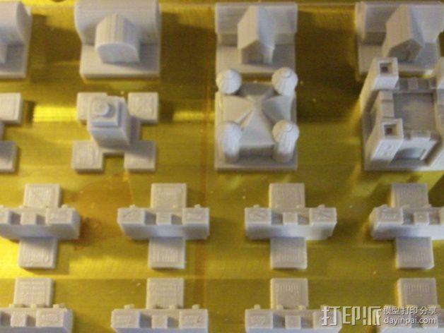 城堡 象棋棋子 3D模型  图4