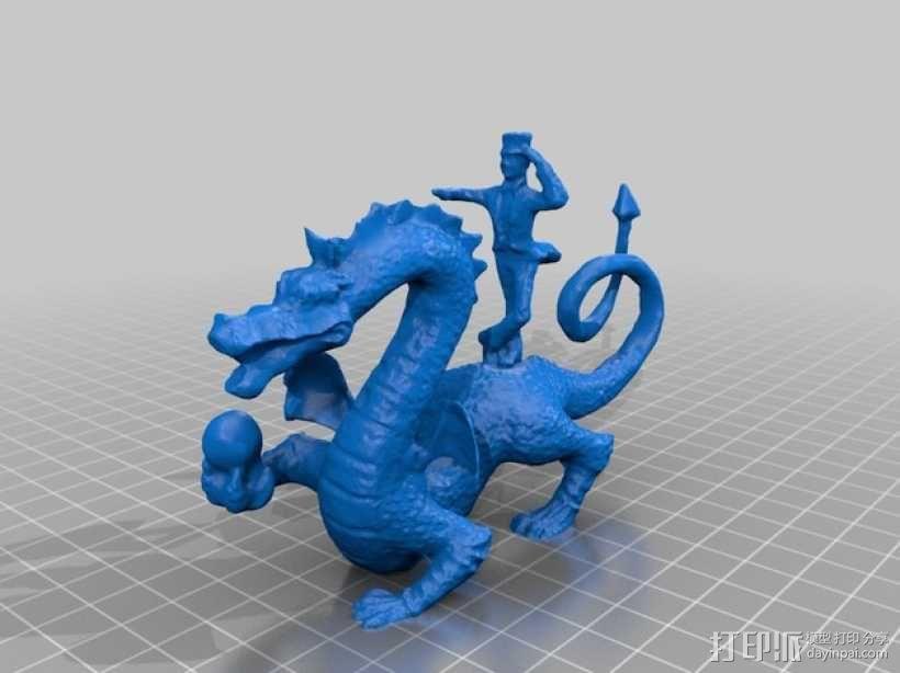 Whoofle 魔法飞龙 雕塑 3D模型  图2