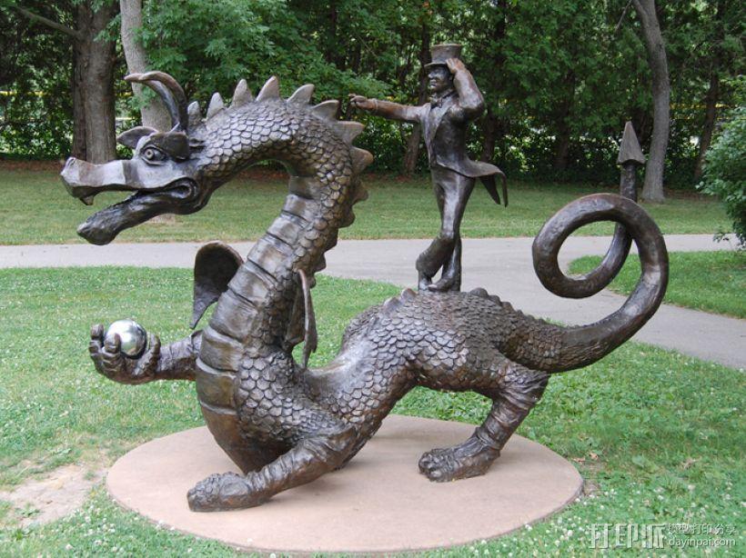 Whoofle 魔法飞龙 雕塑 3D模型  图1