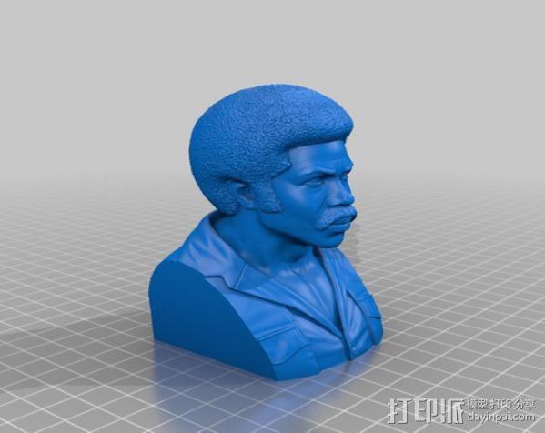 电影《黑色炸药》主角半身像 3D模型  图2