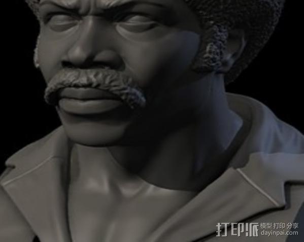 电影《黑色炸药》主角半身像 3D模型  图3